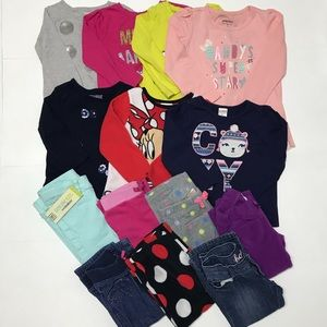 14 pcs of mixed clothing for girls sizes 2T